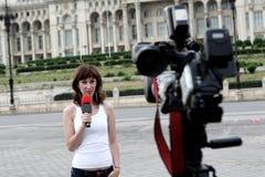 Reportero Fotografía de archivo