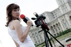 Reportero Foto de archivo libre de regalías