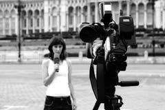 Reportero Fotos de archivo