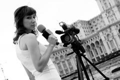 Reportero Fotos de archivo libres de regalías
