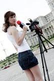 Reportero Foto de archivo