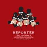 Reportero Concept. Foto de archivo libre de regalías