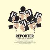 Reportero Concept Fotos de archivo libres de regalías