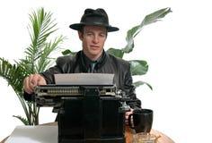 Reportero de antaño imagen de archivo libre de regalías