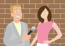 Reportero Man de las noticias Imagen de archivo libre de regalías