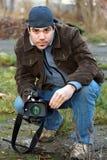 Reportero video Fotografía de archivo