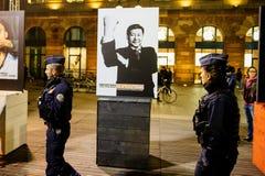 Reporters Without Borders världsledandeaktion Fotografering för Bildbyråer