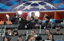 Reporters during the match Stock Photos