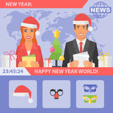 Reporters and New Year Stock Photography