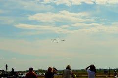 Four aircraft stock photo