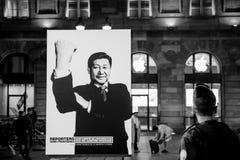 Reportery Bez granica światowych liderów kampanii Fotografia Stock
