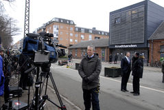 REPORTING TERRO IN COPENHAGEN Stock Images