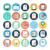 Reports and Analytics Colored Vector Icons 1 Royalty Free Stock Images