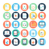Reports and Analytics Colored Vector Icons 4 Stock Photo