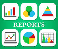 Reports Charts Shows Business Graph And Data Royalty Free Stock Photos