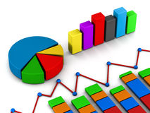 Reports graph diagram Royalty Free Stock Images