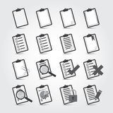 Reports icon set Stock Image