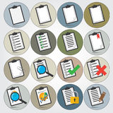Reports icon set Stock Photos
