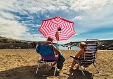 Repos à la plage Photographie stock