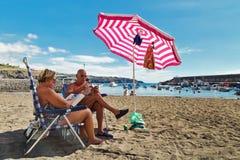 Repos à la plage Photo libre de droits