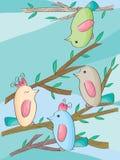 Repos d'oiseaux Images stock