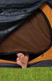 Repos dans la tente Photo libre de droits