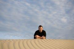Repos dans le désert image libre de droits