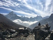 Repos dans le repos de paix dans la haute altitude Photographie stock libre de droits