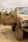Repos dans le véhicule tous terrains Image libre de droits