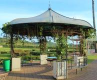 Repos de banc dans le jardin Image stock