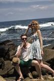 Repos de couples Photos libres de droits