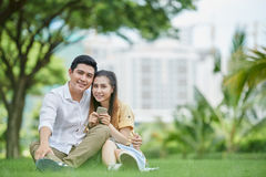 repos de couples Image libre de droits