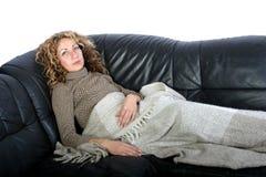 Repos de femme Photo libre de droits