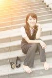 Repos de femme d'affaires Image libre de droits