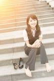 Repos de femme d'affaires Photographie stock libre de droits