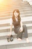 Repos de femme d'affaires Photographie stock