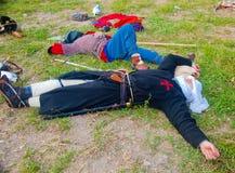 Repos de guerriers de croisade Images stock