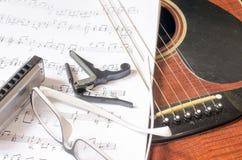Repos de guitariste images libres de droits