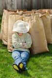 Repos de main-d'œuvre féminine Photo libre de droits