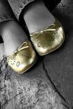 Repos de pied de femme Images stock