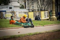 Repos de travailleurs photo libre de droits