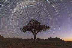 Repos Startrail de chasseurs photographie stock libre de droits