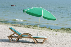 Repos sur la plage Photo stock