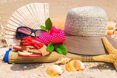 Repos sur la plage Photo libre de droits