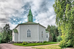 Reposaari. Finland. Lutheran church. In Norwegian mountain style. Reposaari is a small neighbourhood of Pori Royalty Free Stock Photos