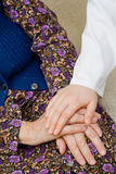 Repose. The doctor holding an elderly woman's hand Stock Photography