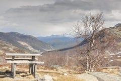 Reposez l'endroit sur la route de Sognefjellet 55 - Norvège Photos libres de droits