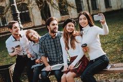 reposez-vous cour université Selfie La connaissance photos stock