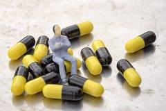 Reposez-vous sur des pilules Photos stock