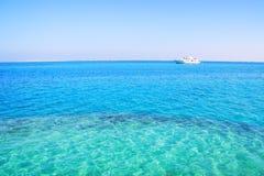 Reposez-vous sur le yacht Photo stock